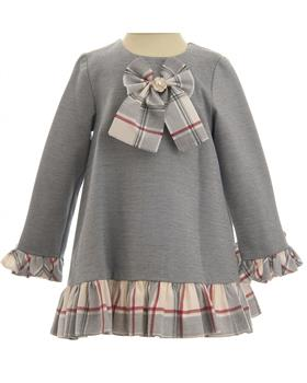 Daga girls winter dress M7533-19 Grey