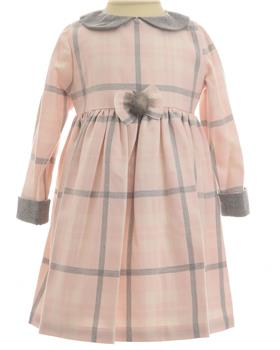 Daga Girls Checked Dress M7552-19 GREY