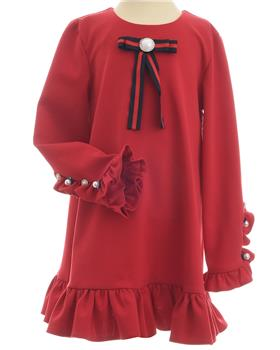 Daga Girls Winter Dress M7443-19 RED