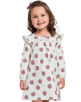 Milon girls winter dress 11346-19 CR/WINE