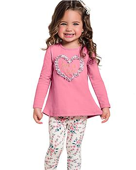 Milon girls winter top & leggings 11357-19 PK/BLK