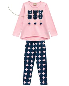Milon girls winter top & leggings 11384-19 PK/NY