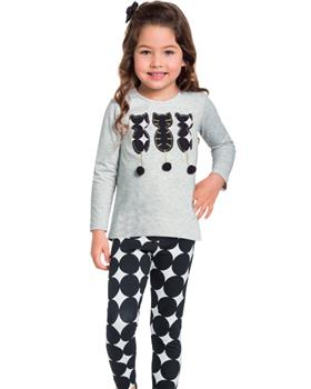 Milon girls winter top & leggings 11384-19 GR/BLK