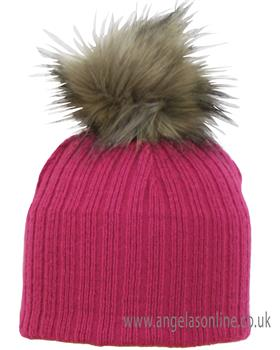 Satila girls pom pom hat Nora Cerise