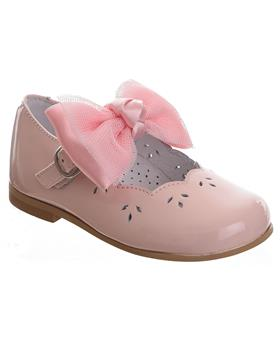 TNY Girls Mary Jane with detachable bow 14105 Pink Patent
