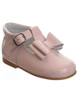 Andanines girls T bar with bow shoe 182810 pink patent