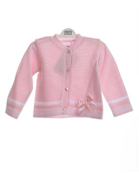 Pex Baby Girls Cardigan Millie B7637-19 PK/WH