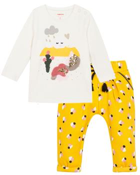 Catimini Girls Tshirt & Trouser CP10063-23033-19 YELLOW