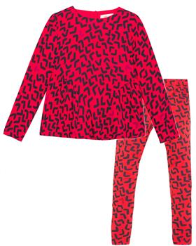 Catimini girls tunic top & leggings CP19065-24045-19 Red