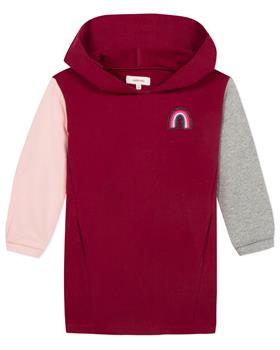 Catimini girls red, pink and grey block colour dress CP30195-19 Red