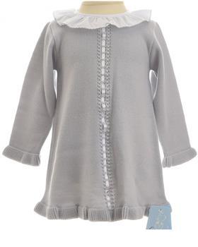 Granlei baby girls dress 1506-19 Grey