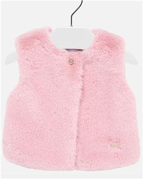 Mayoral baby girls fur gilet 2317-19 pink