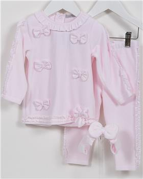 CoCo baby girls tunic top & leg CCA5863-19 Pink