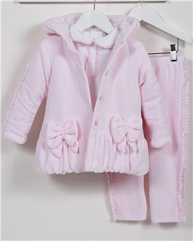 CoCo baby girls 3 piece coat CCA5862-19 Pink
