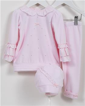 CoCo baby girls tunic top & leg CCA5874-19 Pink