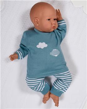 Macilusion Baby Boys Jumper & Pant 7215-19 TEAL