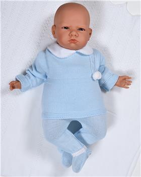 Sardon baby boys knitted jumper & footsie RF-806 Blue