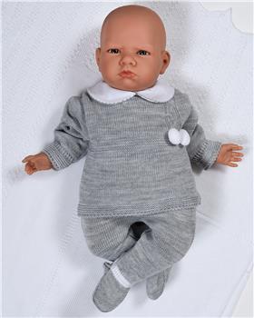 Sardon baby boys knitted jumper & footsie RF-808 Grey