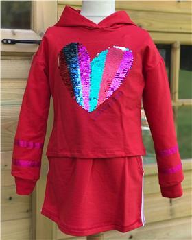Agatha Ruiz De La Prada Top & Skirt 7SS2847-1128-19 Red