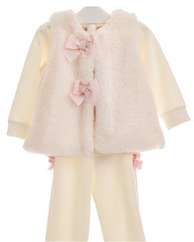 Little Lady baby girls fur vest PET-10 Cream