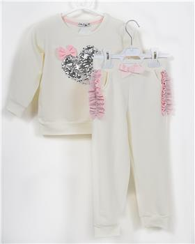 Little Lady girls blouse and trousers STA-13 Cream