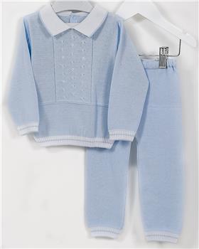 Pretty Originals boys knitted two piece set JPJ1180E-19 Bl/Wh