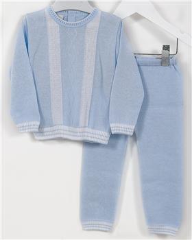 Pretty Originals baby boys jumper & pant JPJ5180E BL-WH