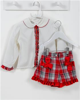 Pretty Originals girls top & short set MC01160E-19 Gr/Cr