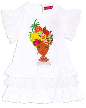 Agatha Ruiz girls bahia dress 7VE3328-20 White