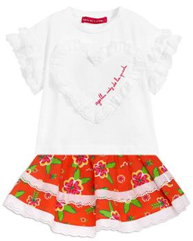 Agatha Ruiz girls bahia top & skirt 7TS5430-1133-20 Orange