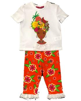 Agatha Ruiz girls bahia top & leggings 7TS5421-0256-20 Orange