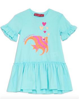 Agatha Ruiz girls atlantis fish dress 7VE3314-20 Blue