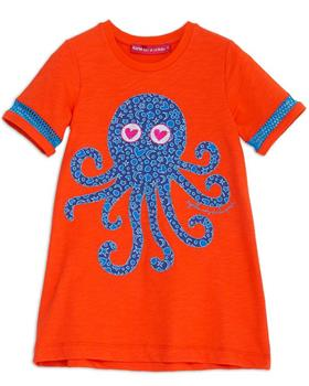 Agatha Ruiz girls atlantis octopus dress 7VE3309-20 Orange