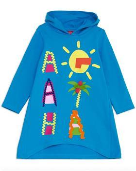 Agatha Ruiz girls atlantis hooded dress 7VE3313-20 Blue