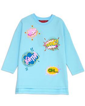 Agatha Ruiz girls comic bubbles dress 7VE3300-20 Blue