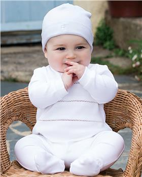 Emile et Rose unisex Sutton all in one with hat 1873wh-20 White