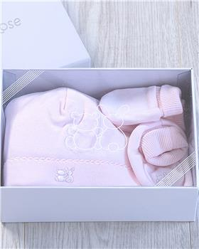 Emile et Rose girls Nox booties, mitts and hat 4228pp-20 Pink