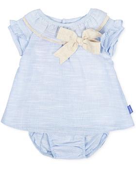 Tutto Piccolo Girls Dress & Briefs 8210-20 Blue