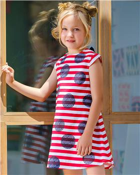Tutto Piccolo Girls Dress 8245-20 Red