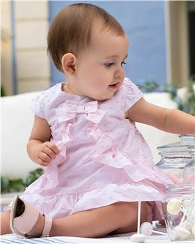 Tutto Piccolo Girls Dress & Briefs 8412-20 Pink
