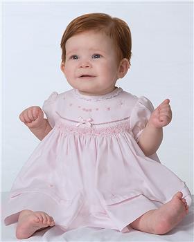 Sarah Louise girls dress & panty 011805 PK-WH