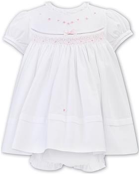 Sarah Louise girls dress and panty 011805 Wh-Pk