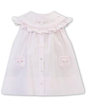 Sarah Louise girls dress 011817-20 Pk/Wh
