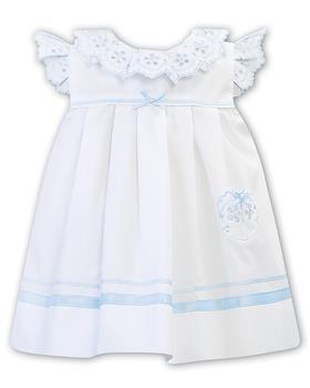 Sarah Louise girls dress 011878-20 Wh/Bl