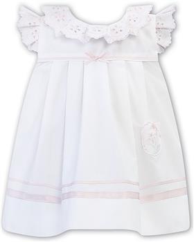 Sarah Louise girls dress 011878-20 Wh/Pk