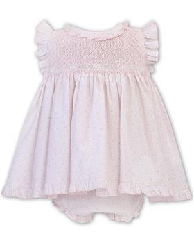Sarah Louise girls dress and panty 011917-20 Wh/Pk
