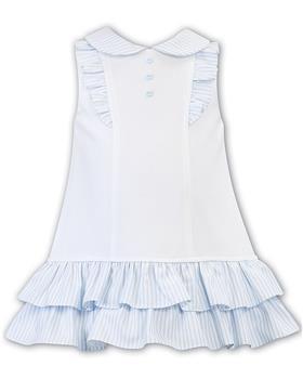 Dani girls dress D09405-20 Wh/Bl