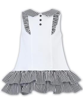 Dani girls dress D09405-20 Wh/Nvy
