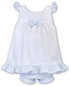 Sarah Louise girls dress and panty D09427-20 Wh/Bl