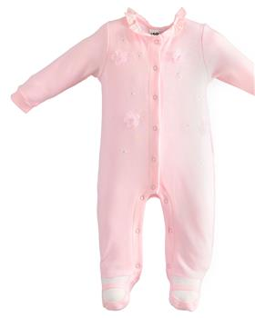 I Do girls romper with feet 4J110-20 Pink